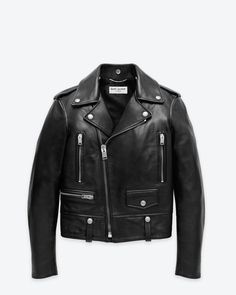 YSL Classic Perfecto Motorcycle Jacket in Black Leather