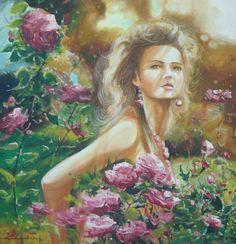 Oil Paint Romantic Series (Yağlıboya Romantic Seri) Romantic Series, Event Organization, Art Director, Modern Art, Mona Lisa, Fine Art, Artist, Artwork, Painting