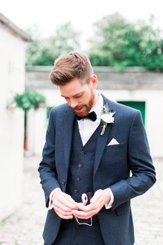 Tweed Navy Suit Hipster Groom Hipster Groom, Tweed, Suit Jacket, Suits, Navy, Formal, Jackets, Wedding Ideas, Style
