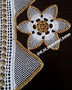 #yakınçekim Filet Crochet, Crochet Doilies, Needle Lace, Banjo, Crochet Clothes, Needlepoint, Tatting, Diy And Crafts, Crochet Patterns