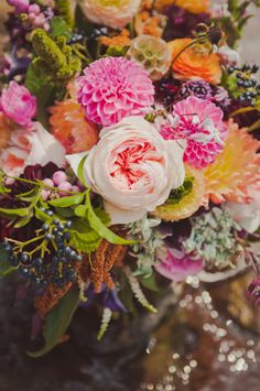 Pink Dahlia!! Real Wedding Flowers by Powell Pictures and Bows & Arrows Dallas | Floret Cadet