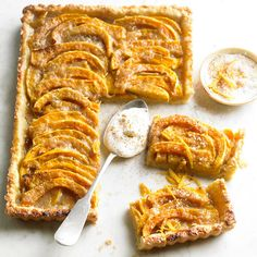 Made with golden squash, melty mozzarella, nutmeg, and brown sugar, what's not to love? http://www.bhg.com/recipes/seasonal/easy-fall-baking-recipes/?socsrc=bhgpin102514brownsugarbutternutsquashtart&page=7
