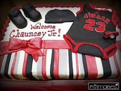 Ashley's Michael Jordan Jumpman Themed Baby Shower | CatchMyParty.com