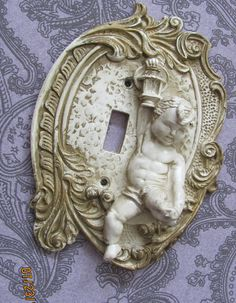 Victorian Shabby Chic Vintage Angel  switch plate cover.