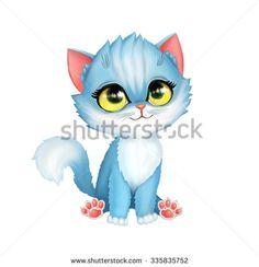 Illustration of little kitten