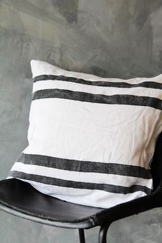 Linen Stripe Cushion from Rockett St George