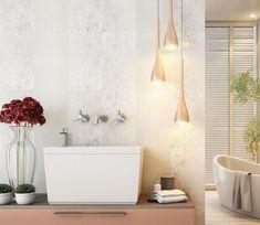 Sutilezas que fazem a diferença! Este ambiente neutro ficou lindo com este produto Incefra todo decorado!  #revestimento #revestimentofloral #decor #decoracao #banheiro #toilet #bathroom #floral #incefra