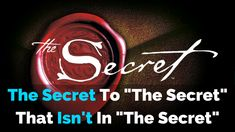 "The Secret To ""The Secret"" That Isn't In ""The Secret"" - http://michaelkidzinski.ws/the-secret-to-the-secret-that-isnt-in-the-secret/"