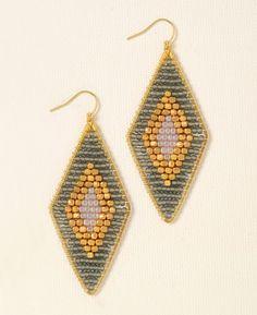 Nakamol Beaded Diamond Nugget Earrings