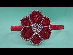 Faça você mesma: Tiara com flor de pérolas e strass - YouTube