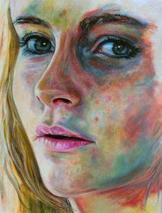 """Tessa"" 40x30cm Portrait Painting by Paul Arts at NUMA Gallery"