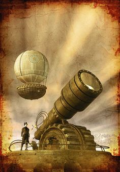 The Steampunk Trilogy by Paul Di Filippo, Italian book cover art by Luca Oleastri - www.innovari.it