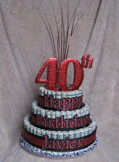 MONEY CAKE 40TH Birthday or Anniversary by CreativeCreationsMC