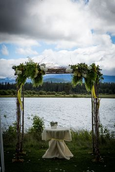 Adi & Spencer - Black Butte Ranch. Ceremony with the meadow as a backdrop. Photo by Powers Studios.