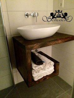 Möbel - Upcycling! Exklusiver Waschtisch, Industriedesign - ein Designerstück von Schaich-Holzmanufaktur bei DaWanda