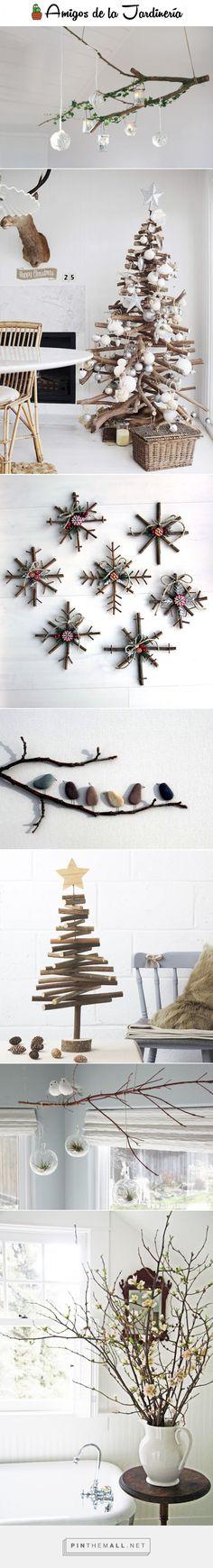 20 #ideas para decorar en #Navidad con #ramas secas... ¿Te animas a probarlo?