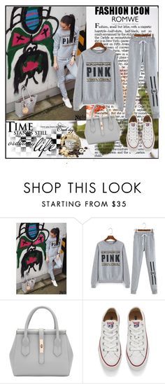 """""""Romwe 4/XVIII"""" by merima-p ❤ liked on Polyvore featuring Converse"""