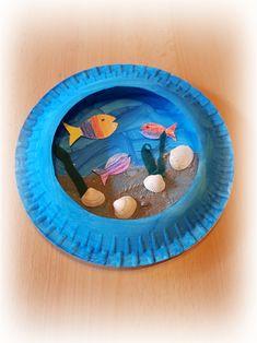 fabric crafts for kids to make Aquarium selber basteln, Easy Crafts For Kids, Summer Crafts, Art For Kids, Crafts Toddlers, Aquarium Craft, Arts And Crafts, Diy Crafts, Paper Plate Crafts, Preschool Crafts