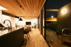 Modern two-story house located in Yashio, Japan, designed in 2016 by Craft. Tall Ceilings, Wood Ceilings, Room Interior Design, Interior Decorating, Story House, Ceiling Design, Old Houses, Great Rooms, Kitchens