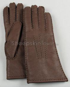 Brown Sheepskin Suede Gloves for Women Mitten Gloves, Mittens, Sheepskin Gloves, Napa Leather, Sheep Wool, Fur, Brown, Stuff To Buy, Women