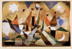 Paul Klee - Voiliers, Attendant la Tempête, 1917