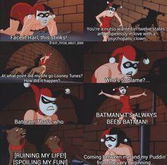 That's why batman is a rock. Everyone blames him.