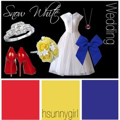 """""""Snow White Themed Wedding""""..Love this idea but with a different dress"""