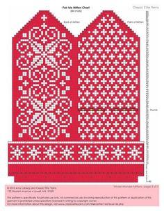 Bilderesultat for selbu charts knitting Knitted Mittens Pattern, Fair Isle Knitting Patterns, Knit Mittens, Knitting Charts, Knitted Gloves, Knitting Stitches, Knitting Socks, Knitting Designs, Knitting Projects