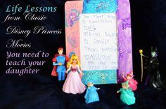 """Life Lessons from Classic Disney Princess Movies You Need to Teach Your Daughter - So much fun! Inspiration for an entire """"Princess Day"""" that you use to teach things that really matter to your daughter--cute and easy #craft idea too! #DisneyBeauties #shop #cbias"""