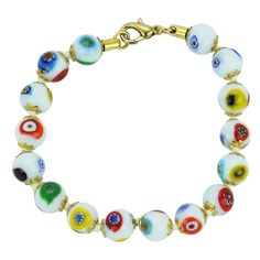 GlassOfVenice Murano Glass Mosaic Bracelet - White >>> Check out the image by visiting the link. (This is an affiliate link and I receive a commission for the sales)