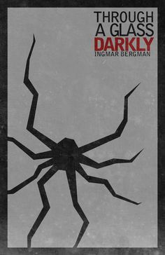 through a glass darkly poster - Google Search