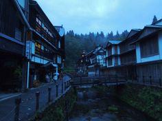 Le jour se lève à l'onsen de Ginzan ©Akira