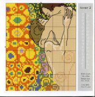 "Gallery.ru / sampo - Альбом ""Густав Климт"" Cross Stitch Needles, Cross Stitch Heart, Gustav Klimt, Cross Stitching, Cross Stitch Embroidery, Cross Stitch Designs, Cross Stitch Patterns, Stitch Doll, Pixel Crochet"