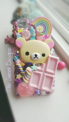 Kawaii Pastel Bear iphone 5c Deco Case by lovemia86 on Etsy, $80.00
