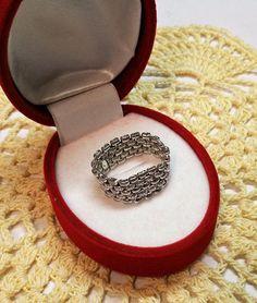 19 mm Ring Kettenring Silber 925 Vintage SR534