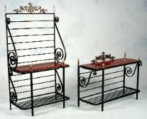 Black wrought Iron Cafe Table and Chairs | Miniature Wrought Iron Tables,Dollhouse,bistro tables,Dessert tables