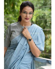 Formal Saree, Casual Saree, Simple Blouse Designs, Stylish Blouse Design, Trendy Sarees, Stylish Sarees, Cotton Saree Blouse Designs, Sari Blouse, Long Blouse