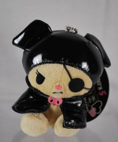 Sanrio 2006 My Melody Kuromi Pirate Plush Keychain