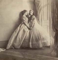 Photograph by Lady Hawarden of two of her daughters, c1863