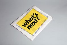 What's next? on Editorial Design Served
