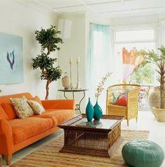 orange sofa! Love!