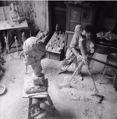 Giacometti in his studio.   # Pin++ for Pinterest #