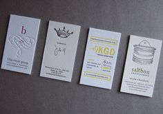 Stumbled upon this wonderful print shop, business cards are my favorite. (Thomas-Printers)