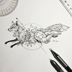 www.lazyduo.com Gorgeous, Intricate Drawings Beautifully Fuse Wild Animals And Geometric Shapes - DesignTAXI.com