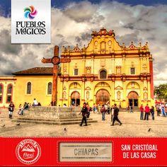 Hoy el Tour Flexi hace su parada en la hermosa ciudad de San Cristóbal de las Casas, capital cultural del estado de Chiapas.  ¿Conoces el nombre de esta catedral?. #Chiapas  #SanCristobalDeLasCasas #TourFlexi [Imagen: Ronald Woan]