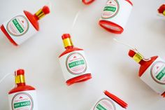 Have a poppin' good time at a graduation party by using these hot sauce party popper labels. Graduation Party Games, 8th Grade Graduation, Grad Parties, Themed Parties, Graduation Ideas, Leaving Party, Party Poppers, Party Catering, Mexican Party