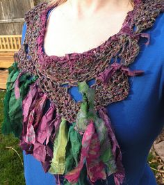Crochet+necklace+scarf+women's+fiber+art+by+LifesAnExpedition,+$39.90