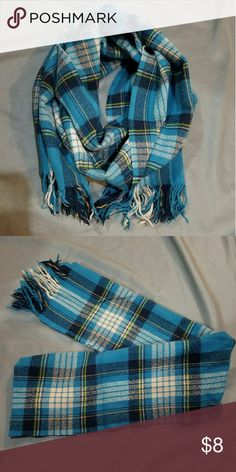 Plaid scarf Really pretty teal/blue plaid coach style scarf Accessories Scarves & Wraps