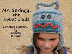 Crocheting: Crochet Robot Hat...for when I have time to crochet again ha ha