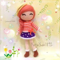 团钩 : 二米, Amy 第一次用羊毛毡弄头发,不小心针戳到手指流了一汤匙的血 1st try use wool felt to do her hair ~ ❤ #amigurumi #crochet #häkeln #handmade #handcraft